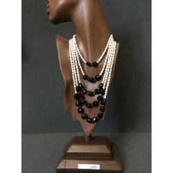 collar perla y cristal