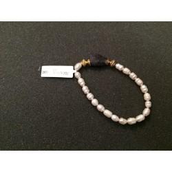 Pulsera perla cuarzo