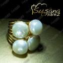 Anillo 4 perlas