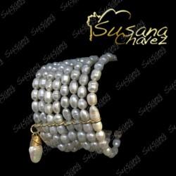 Pulsera perla 8 hilos
