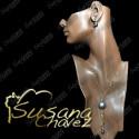 Corbatero con cadena y perla de cristal