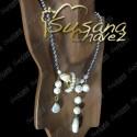 Collar con hematita de perla natural