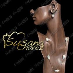 Collar largo calabazos de perla con cadena